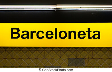 Barceloneta sign