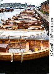 barche, norvegese, vecchio