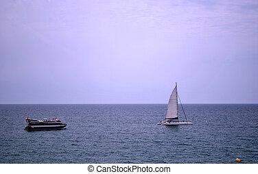 barche, piacere, mare