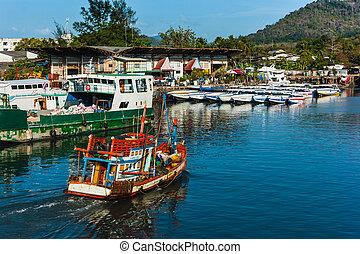 barche, tailandia, mare