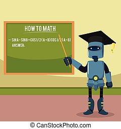 barchelor, degreed, robot, nauczanie
