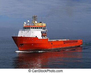 barco, 14b, costa afuera, suministro