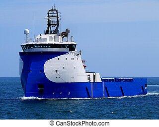 barco, 15d, costa afuera, suministro