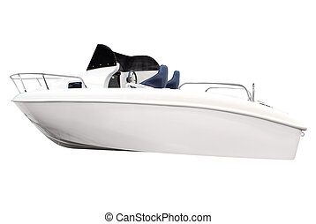 barco, aislado, blanco