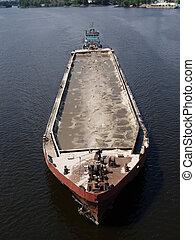 barco, barcaza, tirón