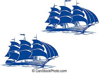 barco, brigantine