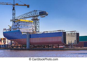 barco, construcción