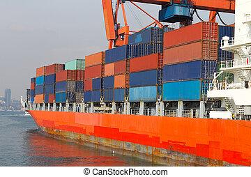 barco, contenedor