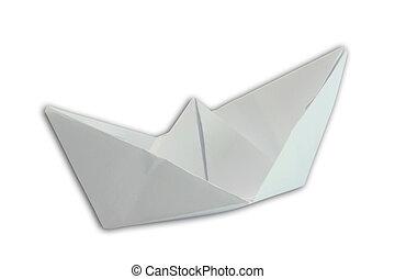 barco de papel, aislado