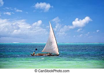 barco de pesca, zanzibar