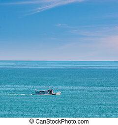 barco de recreo, mar