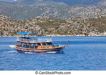 barco de recreo, turco