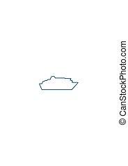 barco del transbordador, icono