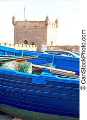 barco, en, áfrica, marruecos, viejo, y, resumen