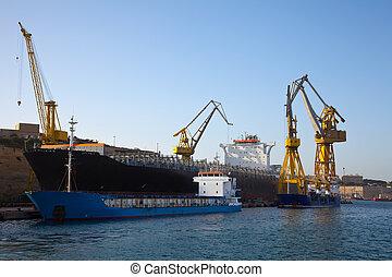 barco, en, drydock