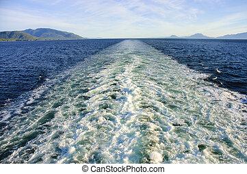 barco, estela, crucero