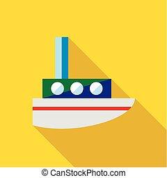barco, juguete, Plano de fondo, amarillo, Niño