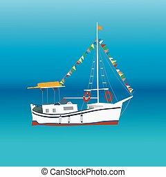 barco, mar