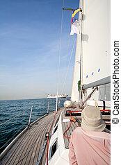 barco, mar, Navegación, hombre