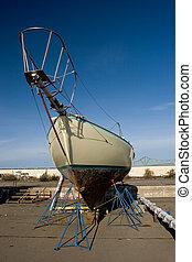 barco, muelle seco