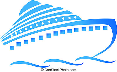 barco, o, crucero