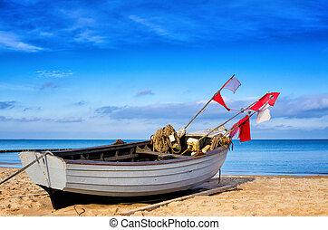barco pesca, usedom