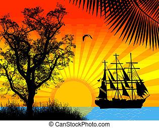 barco, pirata