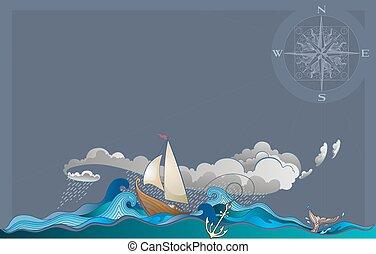 barco,  sailling