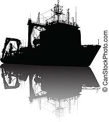 barco, silueta