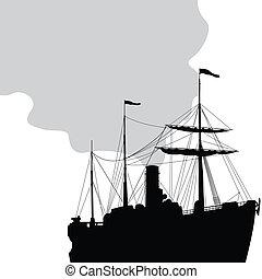 barco, vapor
