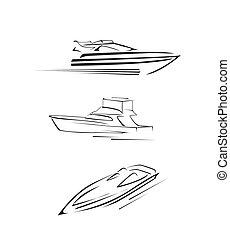 barco velocidade, jogo, cobrança