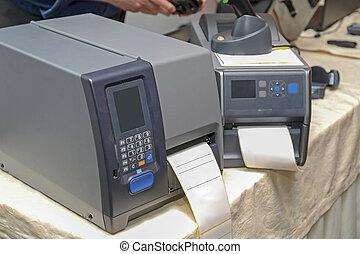 barcode, étiquette, imprimantes