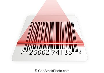 barcode, überfliegen