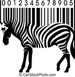 barcode, シマウマ