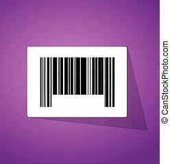 barcode, 代碼, 插圖, 向上