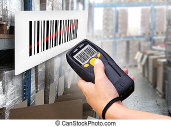 barcode, 走査器