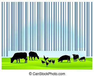 barcode, 農業
