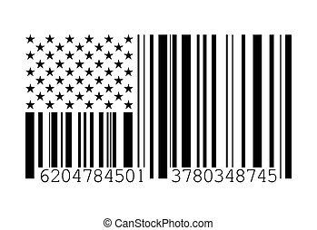 Barcode American flag