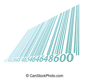 blue bar code on a white background