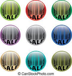 Barcode buttons