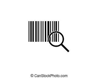 Barcode, code icon. Vector illustration, flat design.