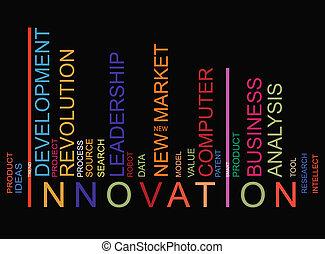 barcode, coloré, innovationtext