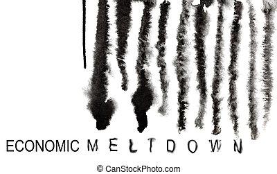 Barcode - Economic meltdown - Economic meltdown. Melted down...