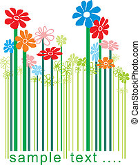 Barcode floral