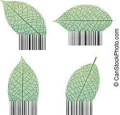 barcode, folha