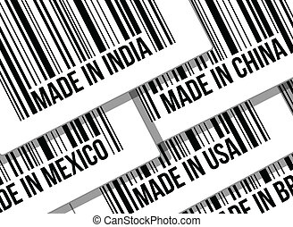 barcode, guerre, concept, business, commercer