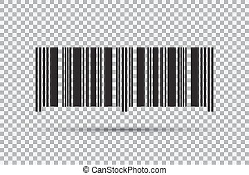 Barcode icon isolated on transparent background. Vector illustration