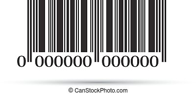 Barcode icon on a white background. Vector illustration EPS10