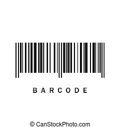 Barcode icon. Vector illustration.