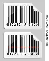barcode., illustration., ベクトル